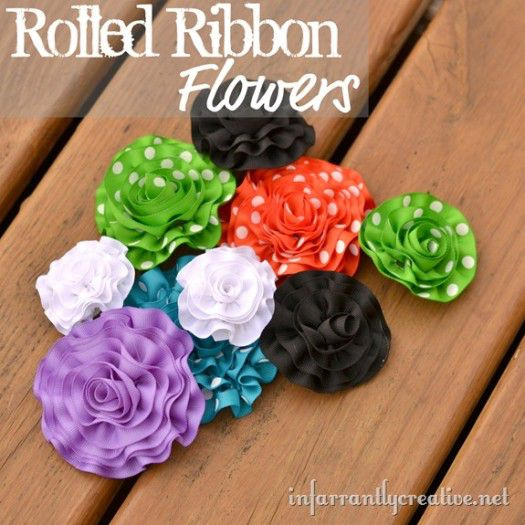 Ruffle Ribbon Flowers