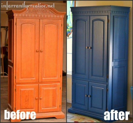 tv armoire before and after