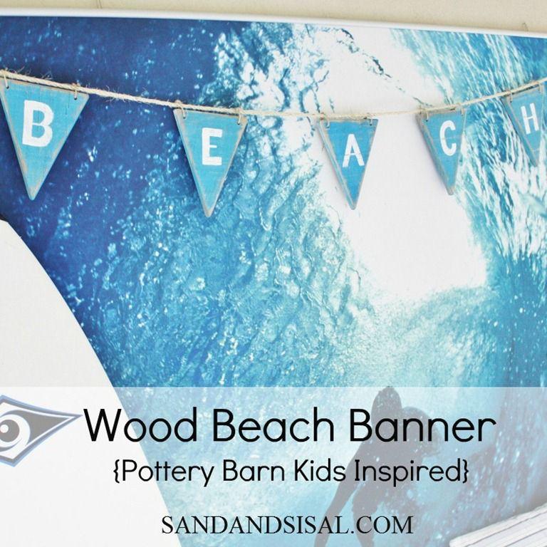Pottery Barn Kids Wood Beach Banner
