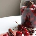 She Simmers pickled cherries with jar