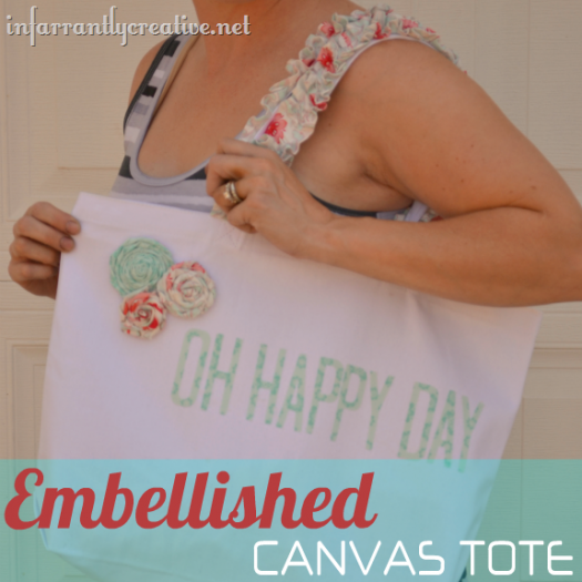 Embellished Canvas Bag