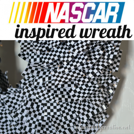 Racing Decoration {Checkered Flag Wreath}