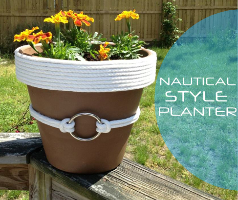Nautical Rope Planter