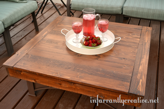 Outdoor Coffee Table Infarrantly Creative - How To Stain And Seal Coffee Table
