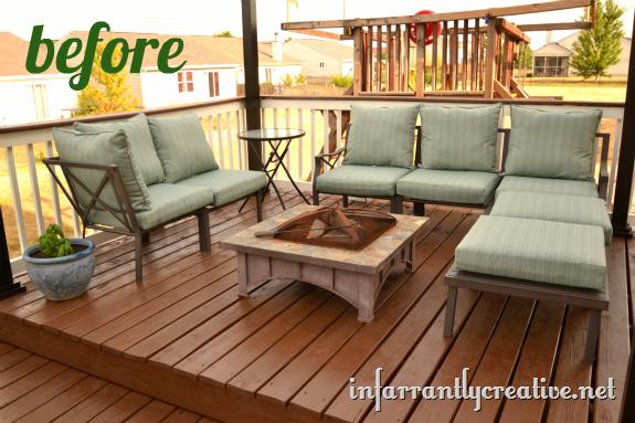 outdoor furniture area