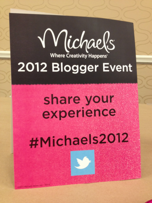 Michaels Blogger Event #michaels2012