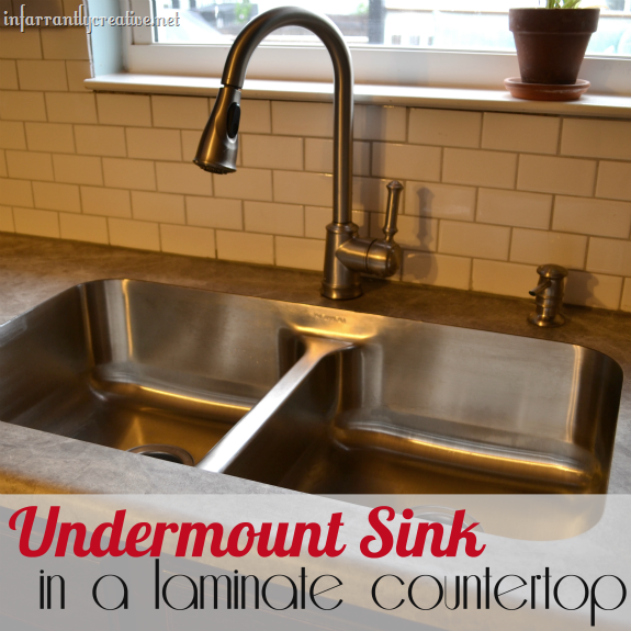 karran undermount sink in laminate