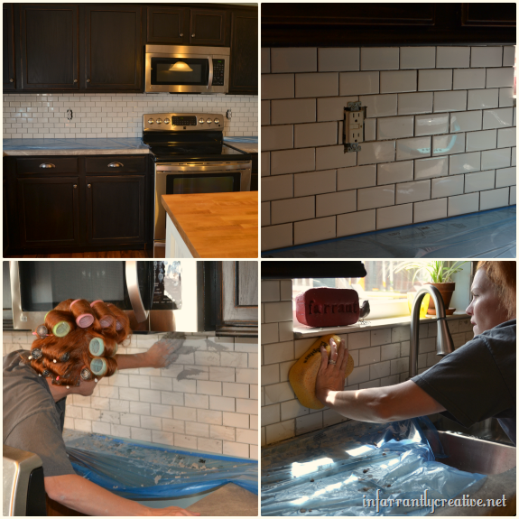 installing subway tile backsplash