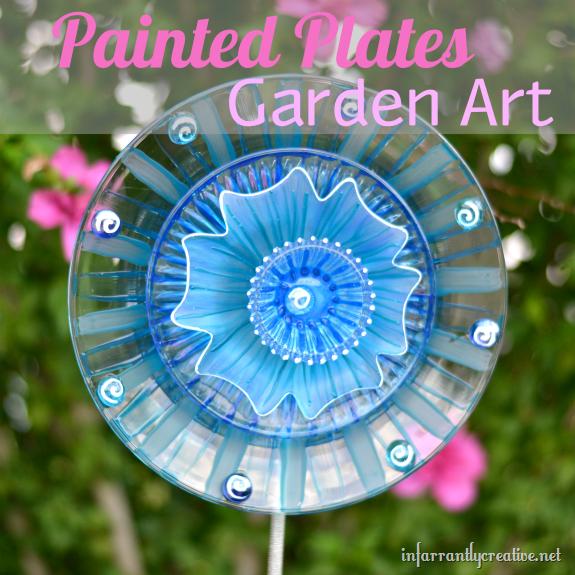 Painted Plates Garden Art Infarrantly Creative