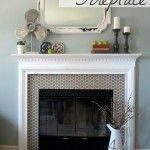 painted fire place