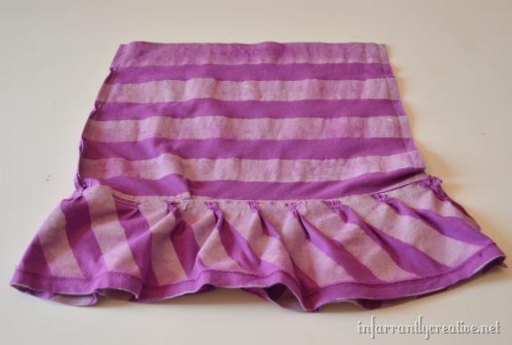 striped ruffled skirt