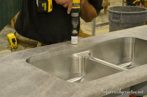 undermount sink in formica countertop