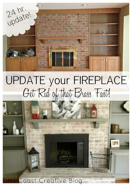 how to paint a brick fireplace