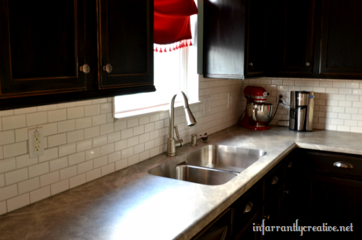 Infarrantly Creative tile backsplash