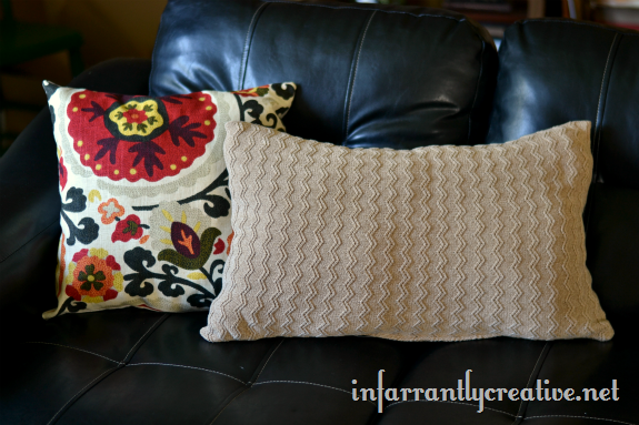 chevron sweater pillow