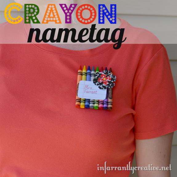 Crayon Name Tag Infarrantly Creative