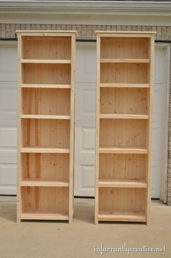 How to Make Bookshelves - Infarrantly Creative