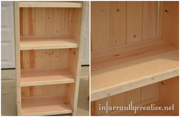 Simple Pine Bookcase Plans