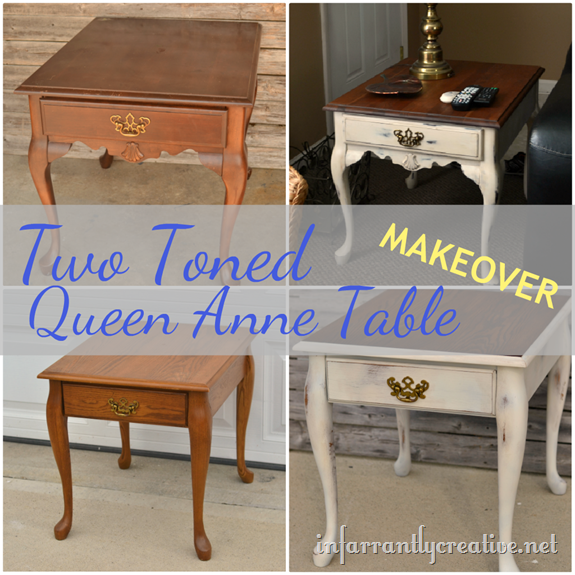 Queen Anne End Table Makeover Infarrantly Creative