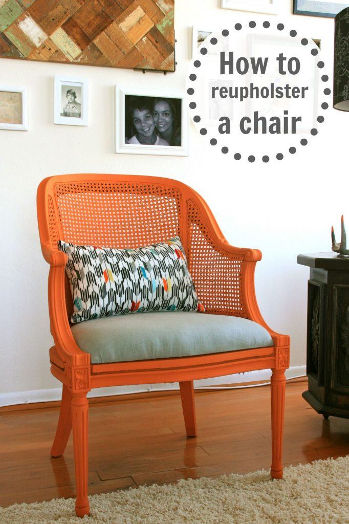 How to Reupholster a Chair - Infarrantly Creative
