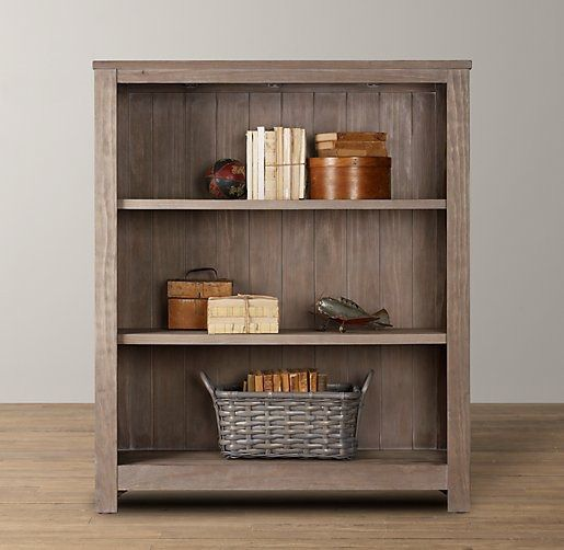 ... for the shelves are the Kenwood Bookshelves from Restoration Hardware