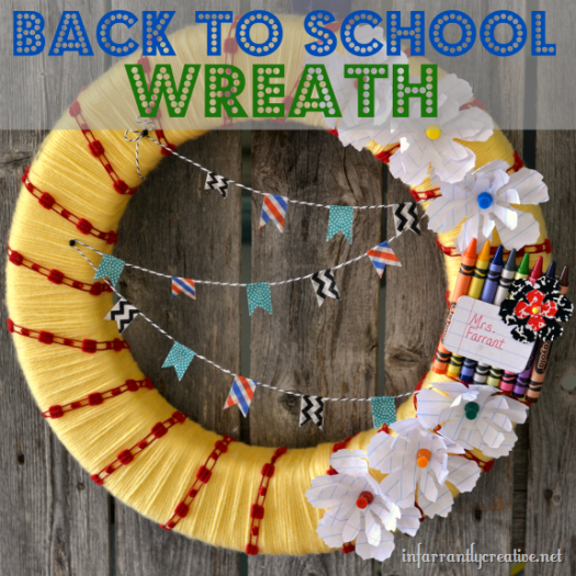 School Wreath Tutorial
