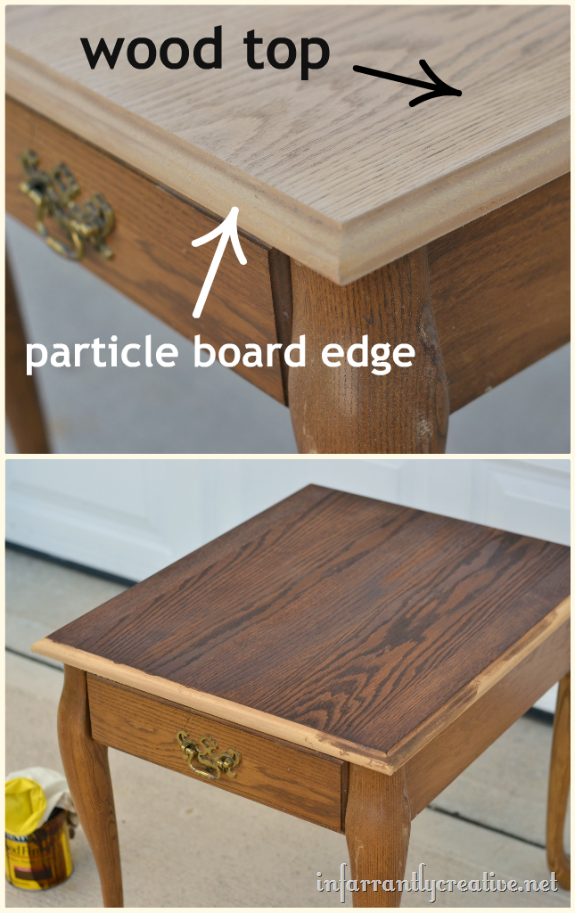 Cherry End Table Makeover