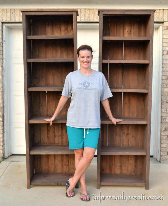 A Perfectly Organized Mudroom Just A Girl And Her Blog: How To Make Bookshelves