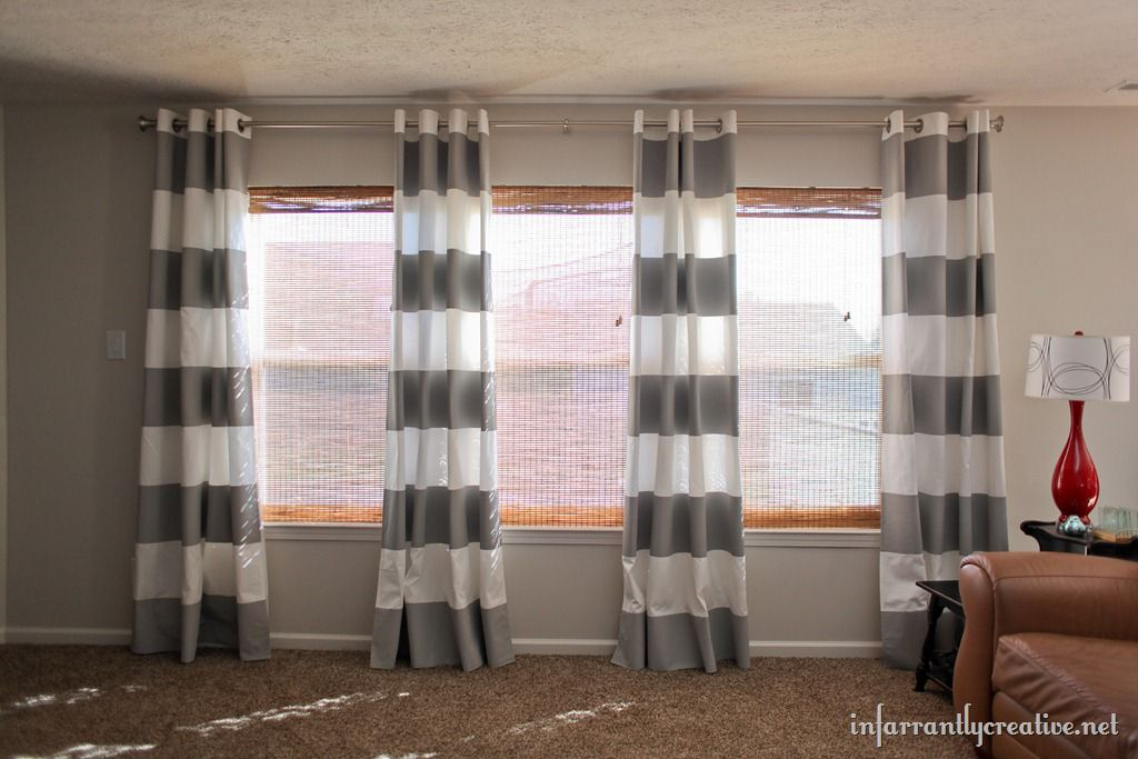 How To Paint Curtains Infarrantly Creative
