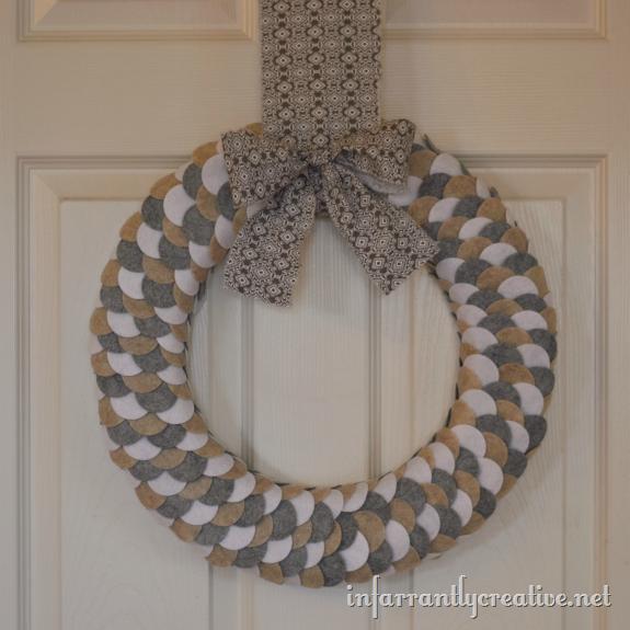 circle felt wreath
