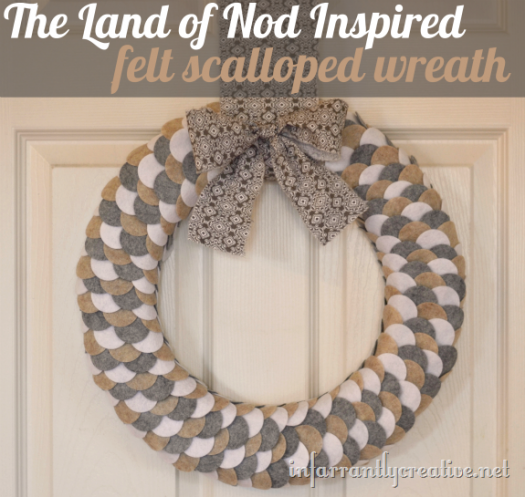 Felt Wreath {Land of Nod Inspired}