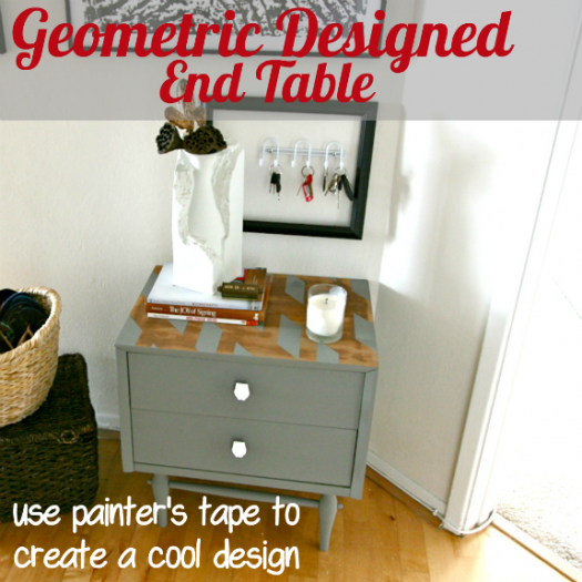Geometric Designed End Table