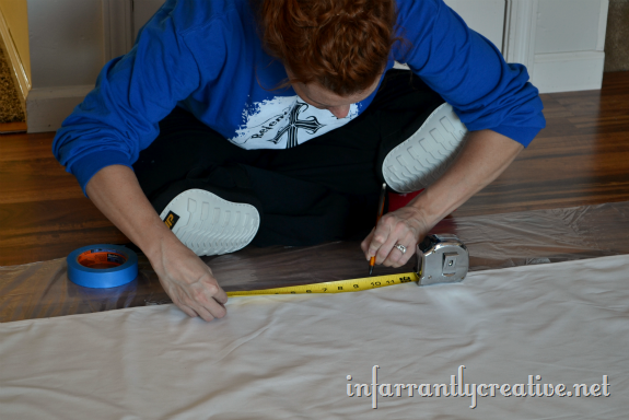 measuring curtain stripes