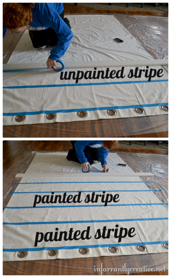 taping off stripes