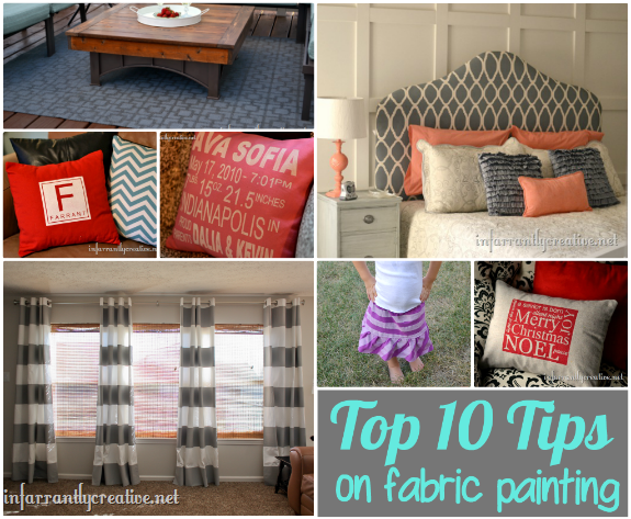 top tips for painting fabric infarrantly creative. Black Bedroom Furniture Sets. Home Design Ideas