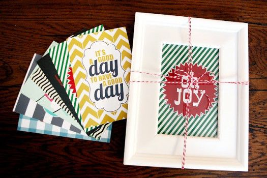 Picture Frame with Printables