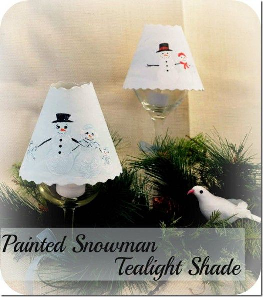 painted snowman tealight shade_thumb[2]
