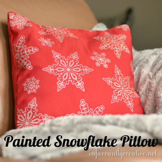 Painted Snowflake Pillow