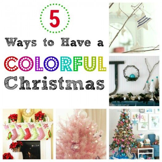 Colorful Christmas Collage