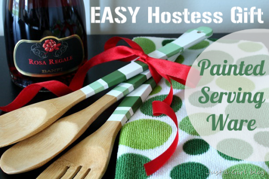 Host Gift {Painted Wooden Spoons}