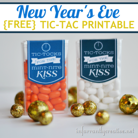 New Years Eve Printable Tic Tac Gift