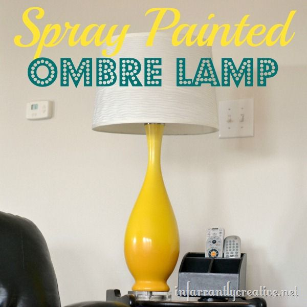 Diy Yellow Ombre Lamp Infarrantly Creative
