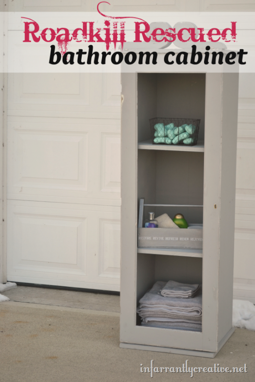 How to Make a Bathroom Cabinet {Roadkill Rescue}