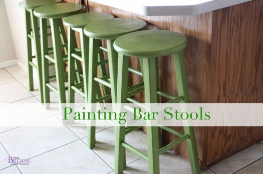 Being Brook painted barstools