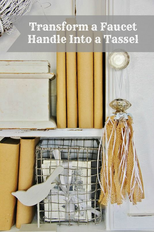 Transform a Faucet Handle Into a Tassel