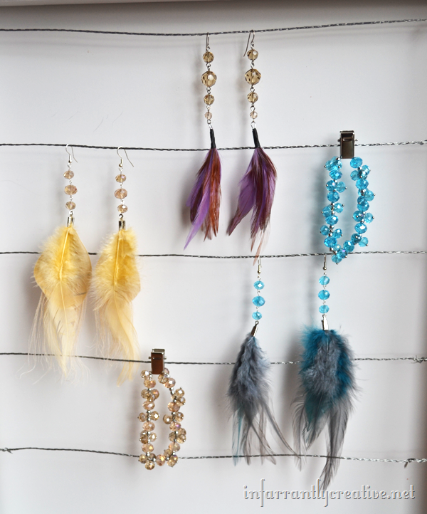 how to make feather earrings infarrantly creative. Black Bedroom Furniture Sets. Home Design Ideas