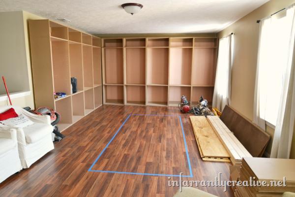 Built in studio cabinets
