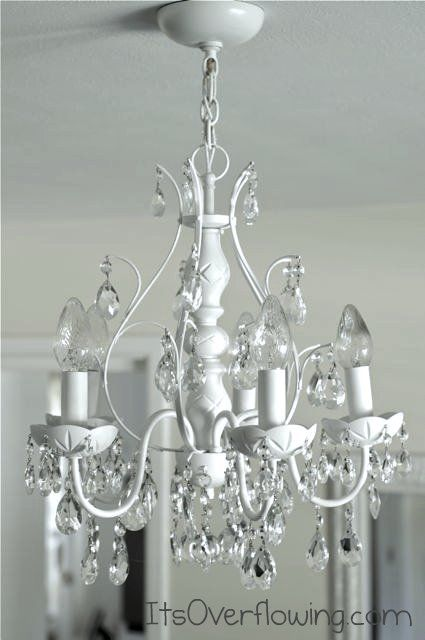 It's Overflowing chandelier makeover