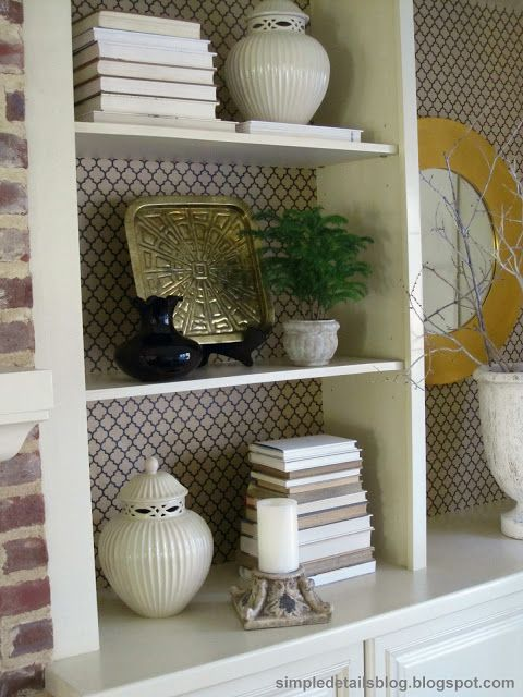 Simple Details wapping paper shelves
