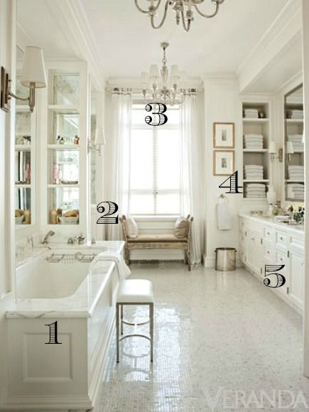 Veranda bath numbered